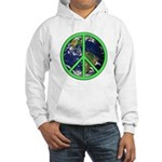 Earth Peace Symbol Hooded Sweatshirt