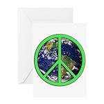 Earth Peace Symbol Greeting Card