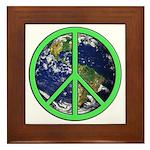 Earth Peace Symbol Framed Tile