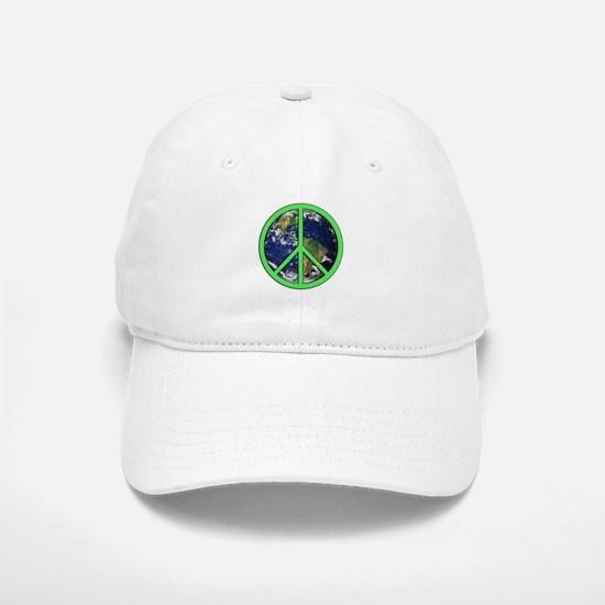 Earth Peace Symbol Baseball Baseball Cap
