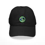 Earth Peace Symbol Black Cap