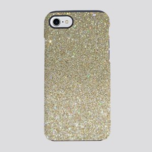 girly chic gold glitter iPhone 8/7 Tough Case