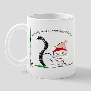 Catitude Christmas Mug