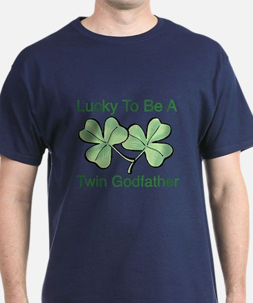 Lucky to be Twin Godfather T-Shirt