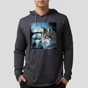 romantic moonlight wild wolf Long Sleeve T-Shirt