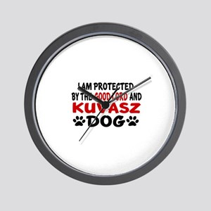 Protected By Kuvasz Wall Clock