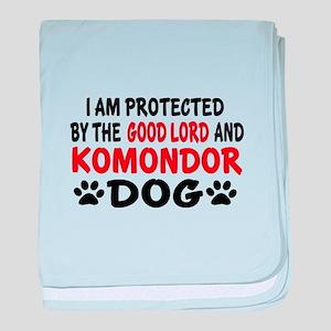 Protected By Komondor baby blanket