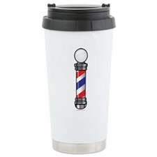 Barber Pole Stainless Steel Travel Mug