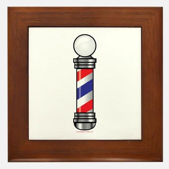 Barber Pole Framed Tile