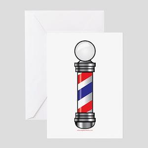 Barber Pole Greeting Card