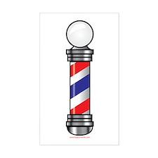 Barber Pole Sticker (Rectangle)