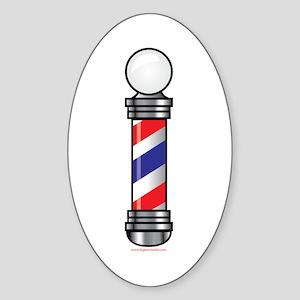 Barber Pole Sticker (Oval)