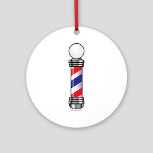 Barber Pole Round Ornament