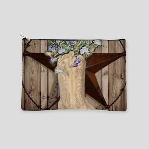 western country barnwood cowgirl Makeup Bag