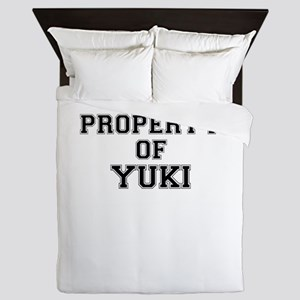 Property of YUKI Queen Duvet