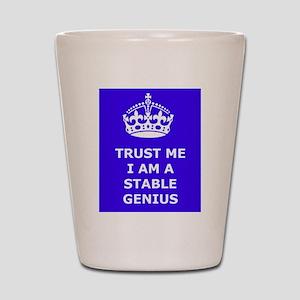 Stable Genius Blue Shot Glass