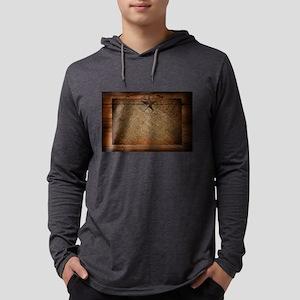 burlap barn wood texas star Long Sleeve T-Shirt