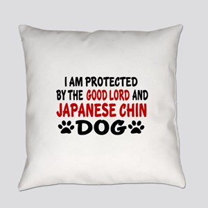 Protected By Japanese chin Everyday Pillow