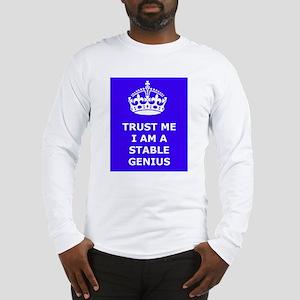 Stable Genius Blue Long Sleeve T-Shirt