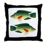 Mozambique tilapia Throw Pillow