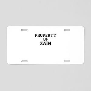Property of ZAIN Aluminum License Plate
