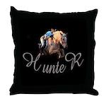 Hunter Rider, horse lover, palomino,Throw Pillow