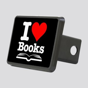 I Heart Books Rectangular Hitch Cover