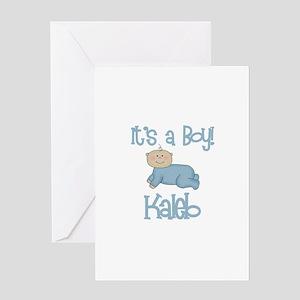 Kaleb - It's a Boy Greeting Card