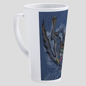 funny cat 17 oz Latte Mug