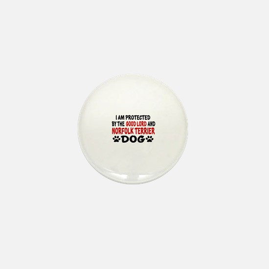Protected By Norfolk Terrier Mini Button