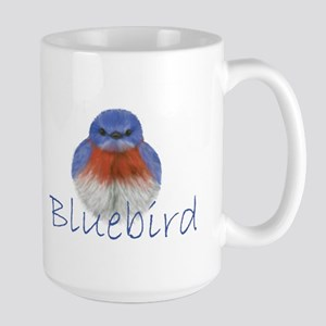 bluebird design Large Mug