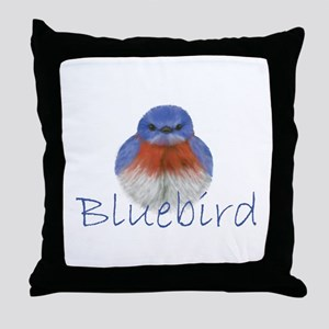 bluebird design Throw Pillow
