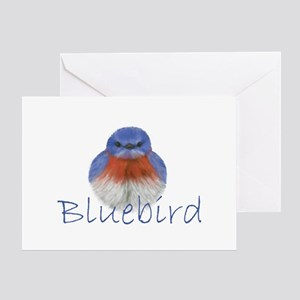 bluebird design Greeting Card