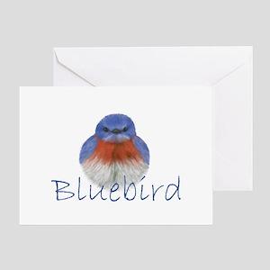 Bluebird gifts cafepress bluebird design greeting card m4hsunfo Image collections