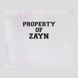 Property of ZAYN Throw Blanket