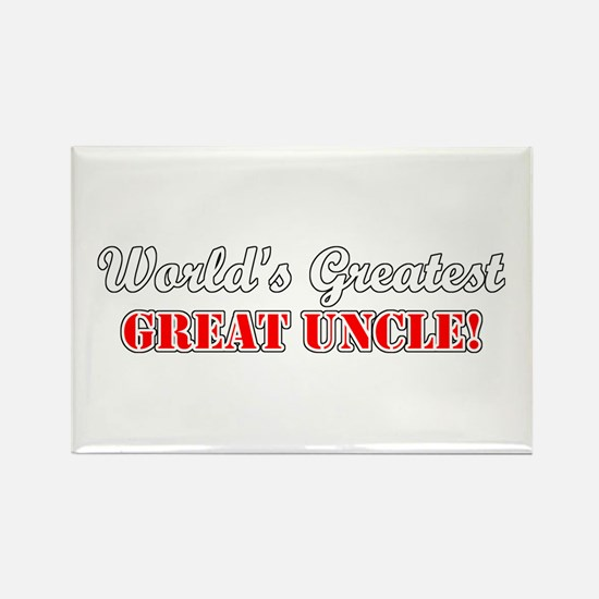 World's Greatest Great Uncle Rectangle Magnet (100