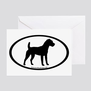 Jack Russell Oval Greeting Card