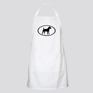 Jack Russell Oval BBQ Apron