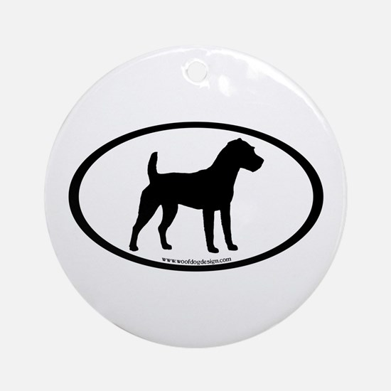 Jack Russell Oval Ornament (Round)
