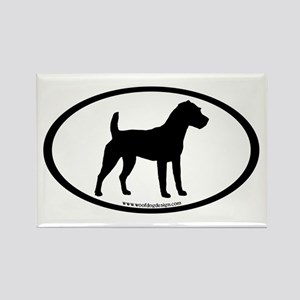 Jack Russell Oval Rectangle Magnet