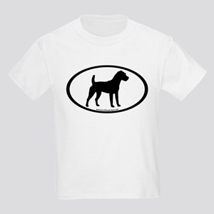 Jack Russell Oval Kids Light T-Shirt