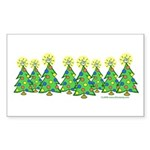 ILY Christmas Forest Rectangle Sticker
