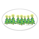 ILY Christmas Forest Oval Sticker