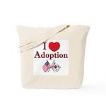 I Love Adoption (Korea/USA) Tote Bag