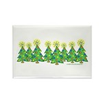 ILY Christmas Forest Rectangle Magnet (10 pack)
