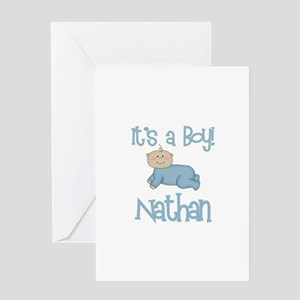 Nathan - It's a Boy Greeting Card