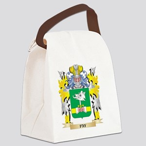 Fay Coat of Arms - Family Crest Canvas Lunch Bag