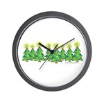 ILY Christmas Forest Wall Clock