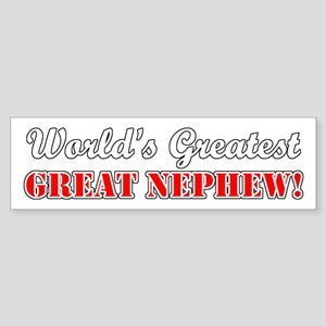 World's Greatest Great Nephew Bumper Sticker
