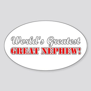 World's Greatest Great Nephew Oval Sticker